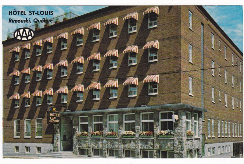Hotel Motel St. Louis, Rimouski, Quebec, Canada, 40-60´s
