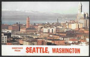 1958 Washington, Seattle, Greetings from, mailed to Czechoslovakia