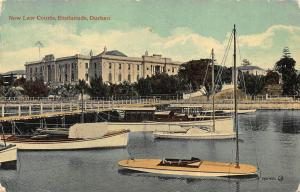 South Africa Durban New Law Courts Esplanade Boats Postcard