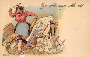 You will agree with us Womans Rights to Vote Suffragette Vintage Postcard Unused