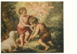 Bartolome die heiligen kinder mit der muschel Postcard