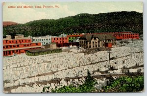 Proctor VT~Vermont Marble Co~Office Buildings~Marble Yard Panorama~1910 Postcard