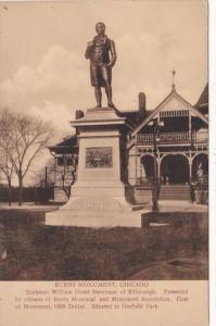 Illinois Chicago Burns Monument In Garfield Park