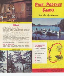 KABINAKAGAMI LAKE , Ontario , 1966 ; Pine Portage Camps Handout