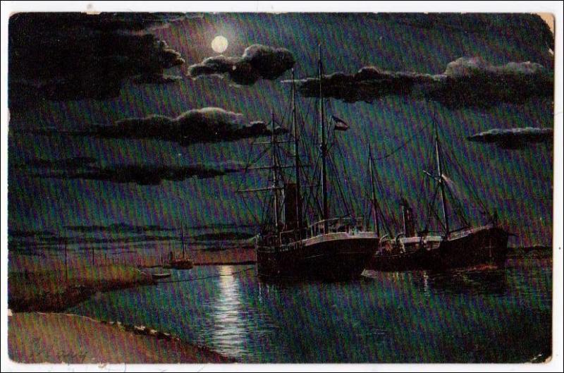 Sailing Ships at Night