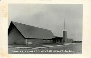 Miller South Dakota~Trinity Lutheran Church~1969 Real Photo Postcard~RPPC