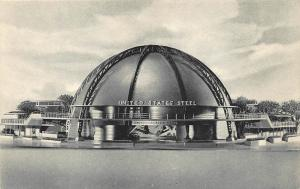 1939 New York Worlds Fair U.S. Steel Corporation Albertype Postcard