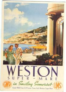 Reprint of an old ad: Weston Super-mare 2007 used Postcard