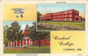 Conway Arkansas~Central College Admin Bldg & Bruce Hall~Graduation Cap/Diploma