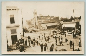 Clintonville WI~Downtown~Dynamite Explosion~Flood Wreckage~July 24 1912 RPPC