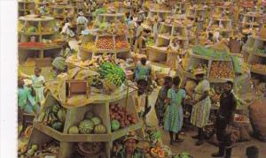 Jamaica Montego Bay Market Interior Stalls
