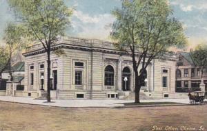 Iowa Clinton Post Office 1915 Curteich