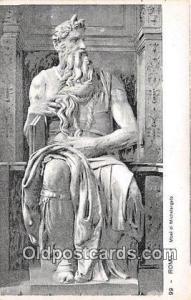 Religious Postcard Roma Mose di Michelangelo