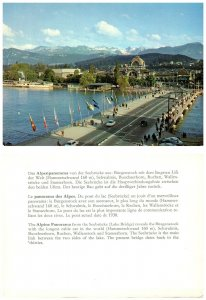 SWITZERLAND Postcard Alpine Panorama, Seebrucke (Lake Bridge) (A14)