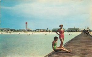 Bathing Beauties Beach swimming 1950s Pensacola Florida Dexter Pronto 10074