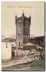 Postcard Old Perpignan Eglise Saint Jaeques