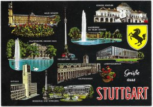 Germany. Stuttgart Landmarks. Beautiful.  mint card.