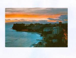 Twilight Time at Waikiki Beach, Hawaii,  40-60s
