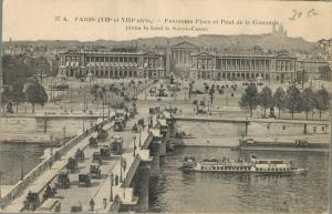 France Paris Panorama Place et Pont de la Concorde 01.73