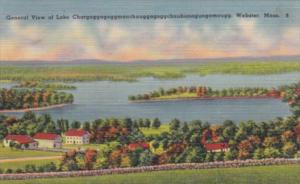 Massachusetts Webster General View Of Lake Chargoggagoggmanchaugagoggchaubuna...