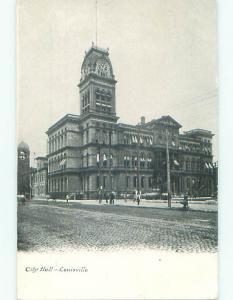 Unused Pre-1907 CITY HALL Louisville Kentucky KY n5674