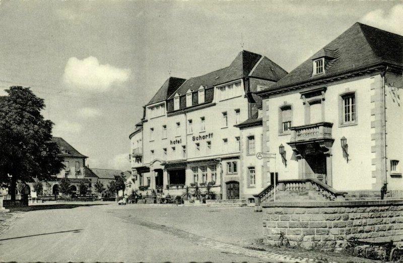 luxemburg, BERDORF, Hotel Scharff (1962) Postcard