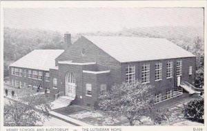 Pennsylvania Topton Henry School And Auditorium The Lutheran Home