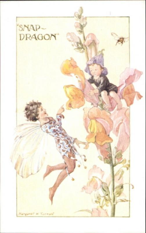 Fantasy Snap Dragon Fairy - Margaret Tarrant Pk 413 Old Postcard