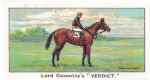 Verdict Winners On The Turf 1923 Cambridgeshire Horse Racing Cigarette Card