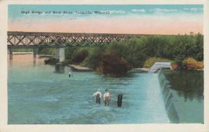 JANESVILLE , Wisconsin, 1929 ; High Bridge and Rock River