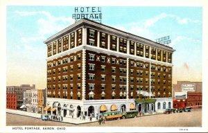 Ohio Akron Hotel Portage Curteich
