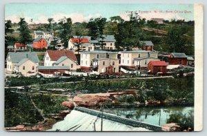 Pembroke Allenstown~Suncook New Hampshire~China Dam~Homes On River~Skyline~1908