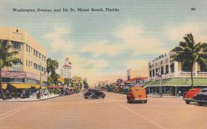 MIAMI BEACH , Florida, 1930-40s ; Washington Avenue