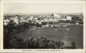 Perth WA Australia Murray Views From King's Park Real Photo Postcard