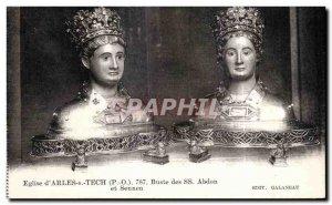 Postcard Ancient Church of Arles s Tech Bust of Abdon and Sennen