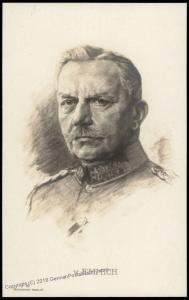 Germany WWI Red Cross General von Emich Artist Signed  RPPC 77356