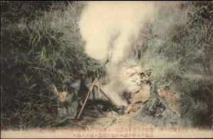 Japan - Volcano Smoke or Fire??? c1910 Postcard
