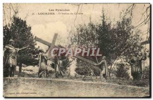Old Postcard The Pyrenees Lourdes Station From Calvary