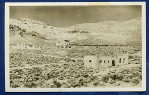 Rhyolite Nevada nv old ghost town buildings real photo postcard RPPC