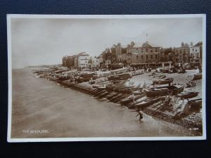 Kent DEAL The Beach & THE BEACH HOTEL c1934 RP Postcard by Valentine G1924
