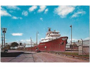 Leon Falk Jr Ship Sault Saint Marie, Soo Locks Michigan 1964