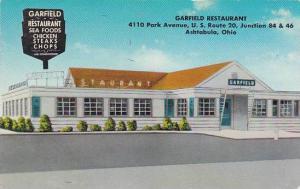 Ohio Ashtabula The Garfield Restaurant 1966