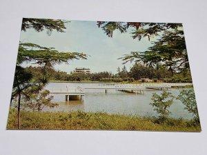 Zig-Zag Bridge Chen-Ching Lake Vintage Postcard China