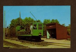 MA Boston Elevated Railway Railroad Train Trolley Repair Car Mass Postcard PC