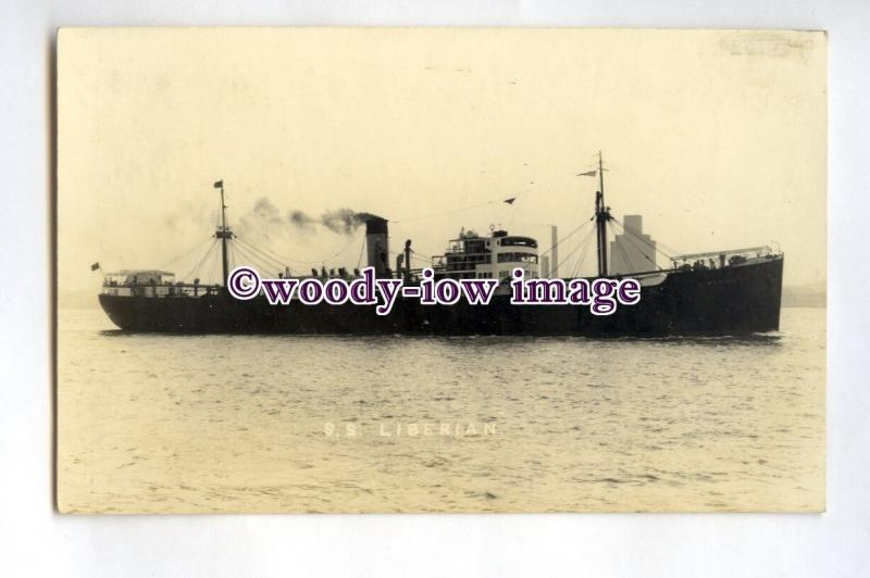 pf0232 - United Africa Co Cargo Ship - Liberian , built 1936 - postcard