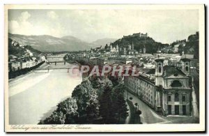 Postcard Old Salzburg von der Humboldt Terrace