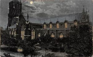 Scotland Dundee, Old Tower and Churches, Moonlight, Night 1903