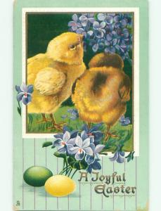 Divided-Back EASTER CHICK SCENE Cute Postcard AA0995
