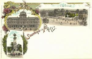 france, PARIS, Multiview, Palais du Louvre, Cour du Carroussel, Monument (1899)