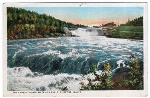 Rumford Falls, Maine, The Androscoggin River And Falls